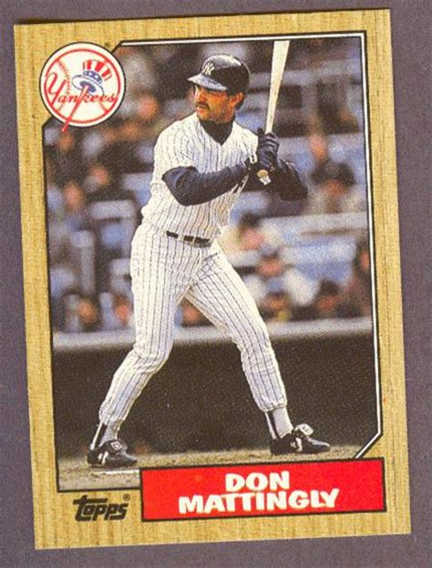 Don Mattingly Cards don mattingly baseball card 1986 topps condition mint gem mint