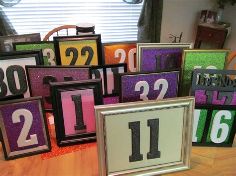 hobby lobby table numbers 7 best table numbers images on marriage