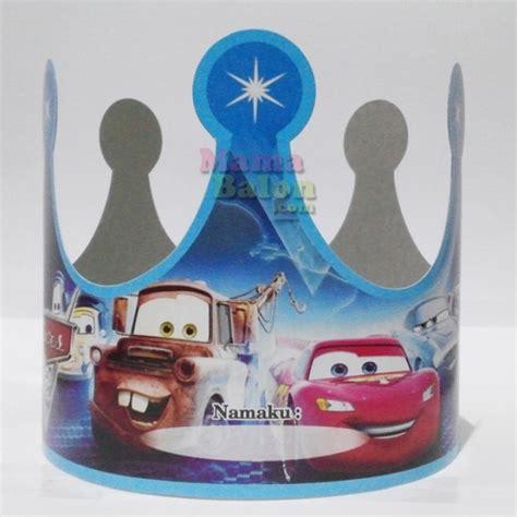 Topi Ultah Lingkar Mahkota balon topi ulang tahun mahkota cars