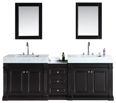 double trough sink bathroom vanity odyssey 88 quot double sink vanity set with trough style sinks