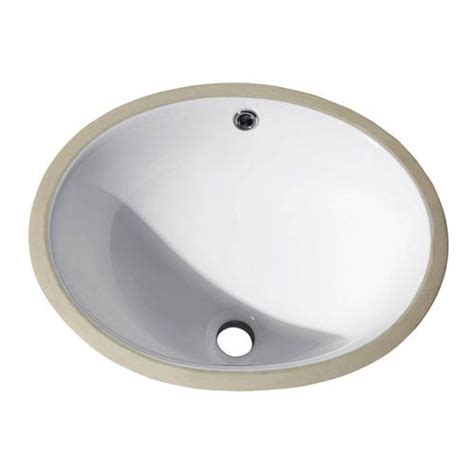 undermount 16 inch oval vitreous china ceramic sink in