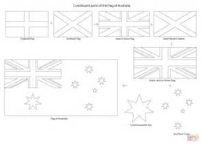 Parts Australia Kolorowanka Elementy Flagi Australii Kolorowanki Dla