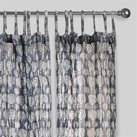 sheer crinkle curtains gray lucy crinkle sheer voile cotton curtains set of 2