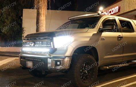 tundra led light bar 1 lower bumper grill mount for 2014 up toyota tundra