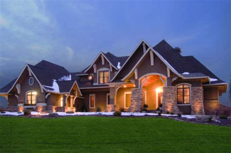 craftsman style house plan 5 beds 4 baths 5077 sq ft
