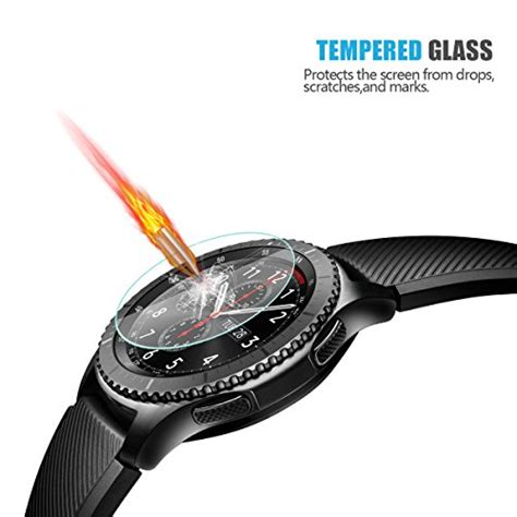Zilla 2 5d Tempered Glass Samsung Gear S3 Curved Edge 9 Berkualitas 1 4 pack gear s3 tempered glass screen protector akwox 0