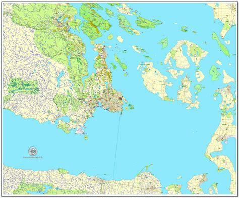 printable maps victoria bc victoria canada adobe illustrator full vector map v3