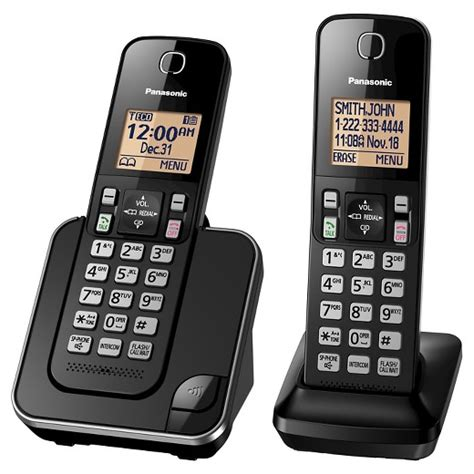 best buy house phone panasonic 2 handset cordless phone black kx tgc352b