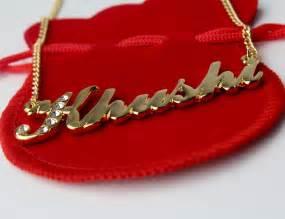 Personalised Name Necklace 18 Karat Gold Plated Name Necklace Khushi