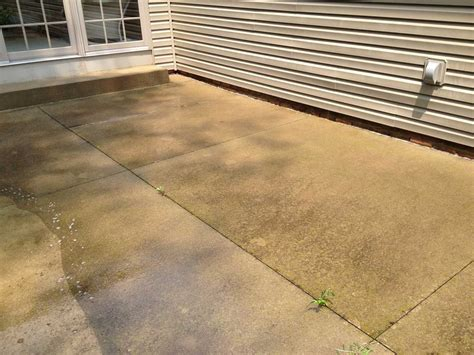 cleaning concrete patio concrete patio after all cleanall clean