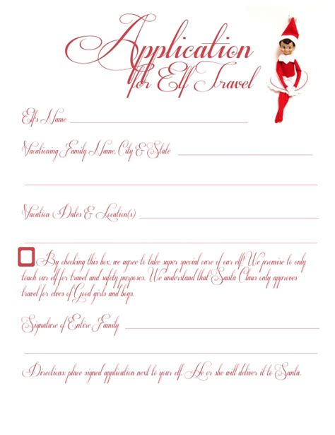 free printable elf application pin by niki staley on christmas pinterest