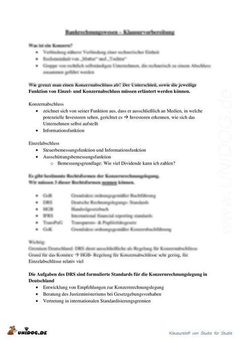 rechnungswesen bank unidog klausurvorbereitung bank rechnungswesen