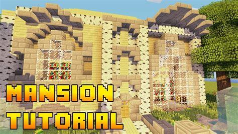 Build A Mansion | minecraft mansion build tutorial xbox ps3 pe pc quick