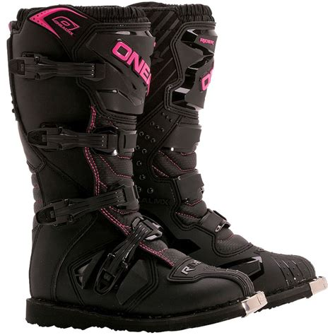 mx riding boots cheap oneal new 2017 ladies mx rider black pink cheap dirt bike