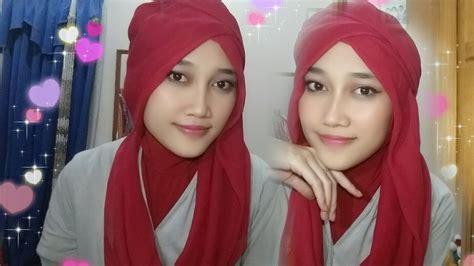 tutorial hijab segiempat semi formal tutorial hijab segiempat semi turban youtube
