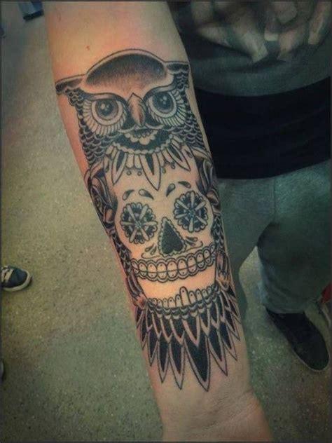 owl tattoo unterarm tattoo eule mit skull tattoo neu pinterest eule