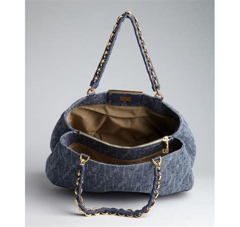 Fendi Patchwork Tote by Fendi Denim Zucca Patchwork Tote Fendi Handbags