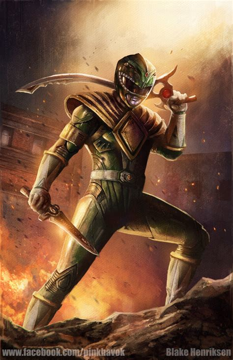 painting power rangers green ranger concept by pinkhavok on deviantart