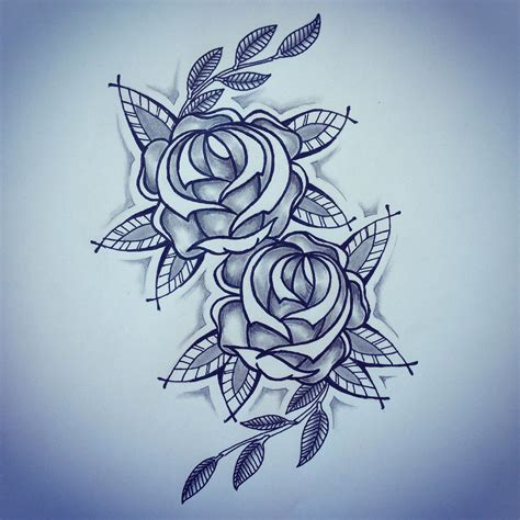 new rose tattoo new traditional roses sketch by ranz