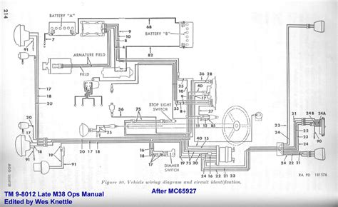 willys  wiring diagram  ignition switch wes