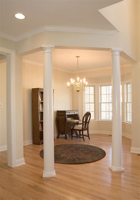 interior home columns luxury living room decors with tapered round plain