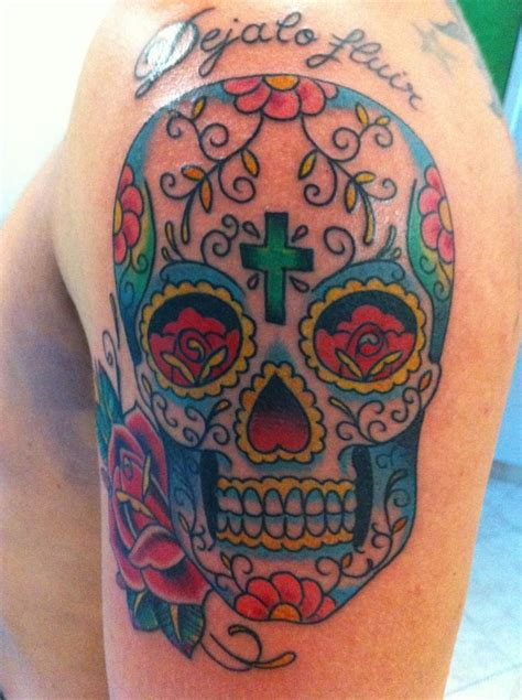 skull candy tattoo colorful skull tattoos mexican sugar skull color