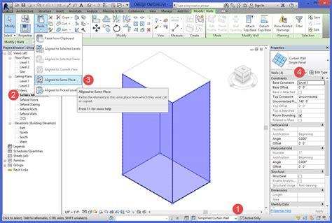 pattern grid revit utilizing revit design options for sefaira sefaira support