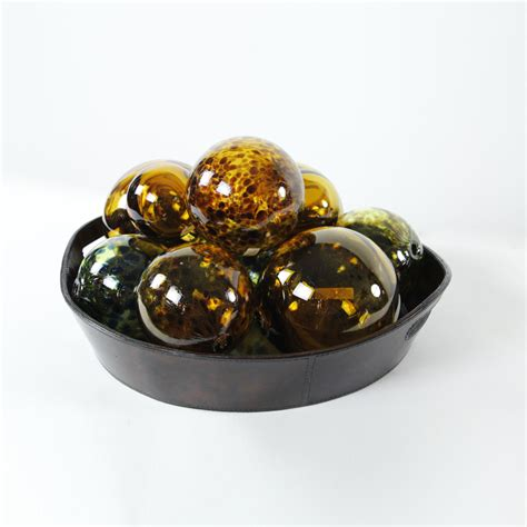 blown recycled glass balls 1