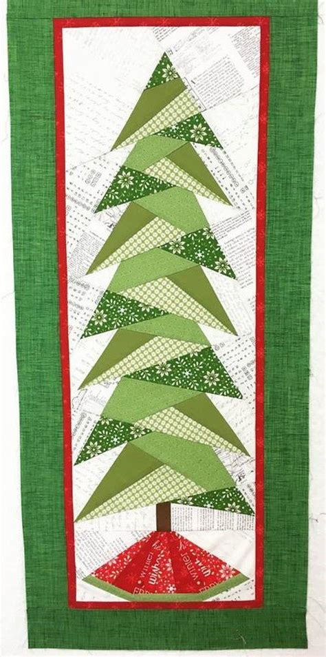 christmas tree paper pieced christmas tree in july paper pieced tree pattern decore