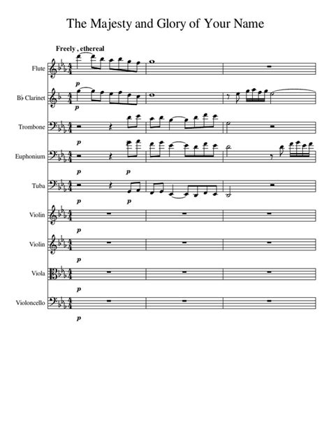 The Majesty And Glory Of Your Name Piano Sheet Music Pdf