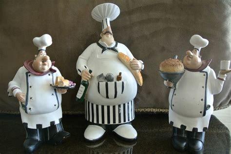 italian chef figurines kitchen decor