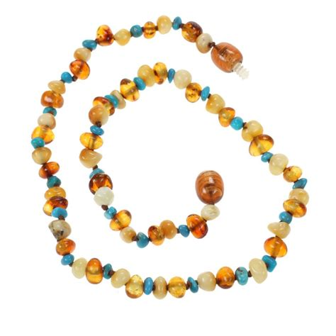 genuine baltic and turquoise teething