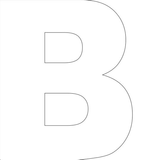 letter b template free printable alphabet template