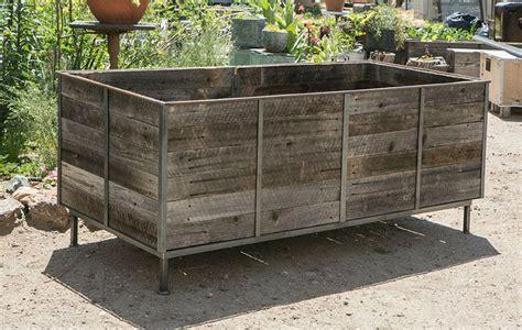 Cedar Planters by Steel Frame Planters With Cedar Inserts 3 Custom By