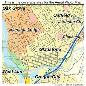aerial photography map of gladstone or oregon
