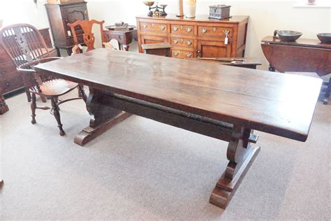 antique chestnut refectory dining table hingstons