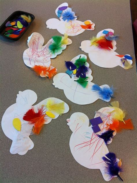 The 21 Best Images About Birds Preschool Crafts - b is for bird activity that uses feathers to decorate the