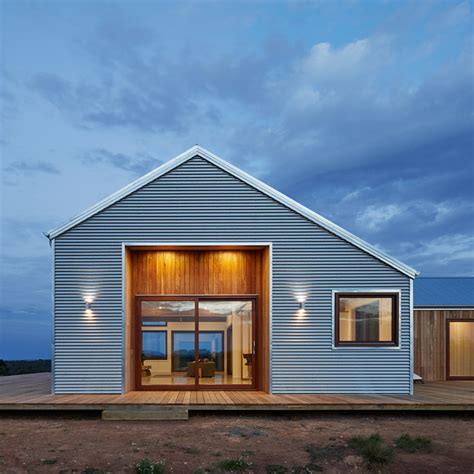 Modern Sheds Australia by Corrugated Steel Provides Durable Facade For Rural