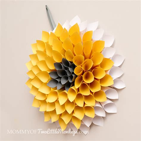 How To Make A Paper Wreath - how to make a paper wreath dahlia inspired 10 to