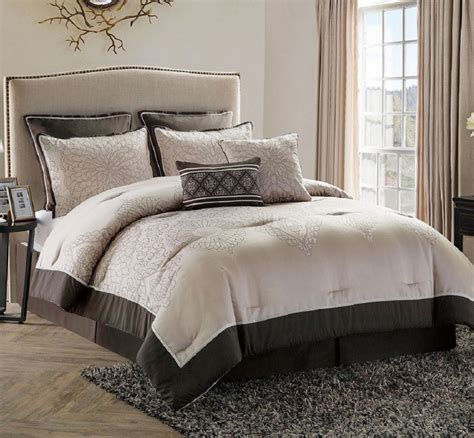 cing bedding bed in a bag comforter set king size bedroom bedding brown