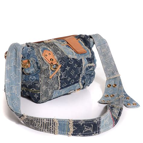 Patchwork Louis Vuitton - louis vuitton denim patchwork posty messenger bag blue 102540