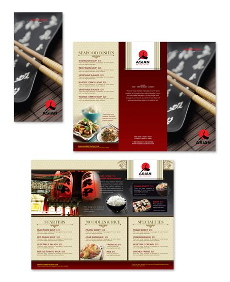 restaurant take out menu templates asian restaurant take out menu template