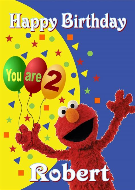 Printable Birthday Cards Elmo | personalised elmo birthday card
