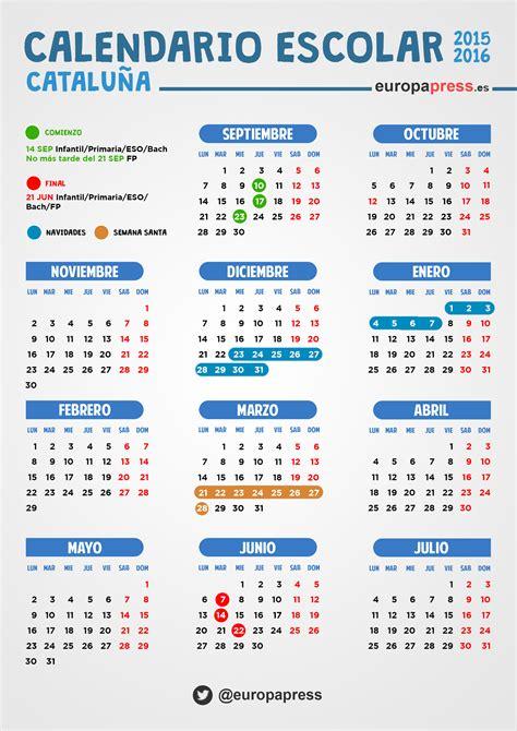 imagenes calendario escolar 2015 calendario escolar 2015 2016 en catalu 241 a festivos