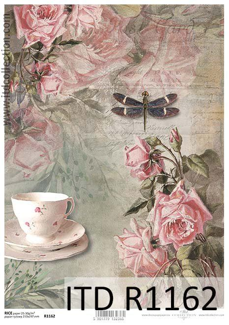 Best Paper For Decoupage - rice paper r1162 paper for decoupage rice vintage cup