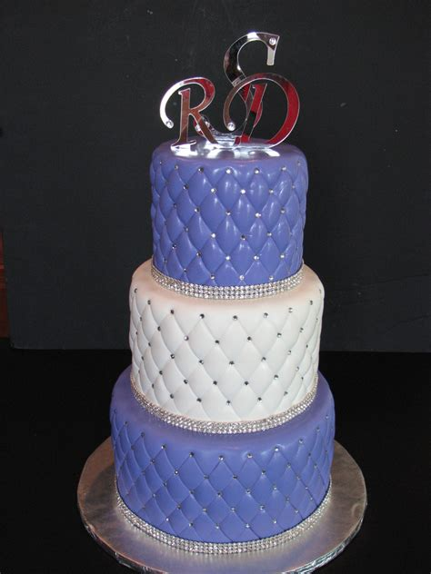 Wedding Cake Quilting by Quilted Wedding Cake With Rhinestones Cakecentral