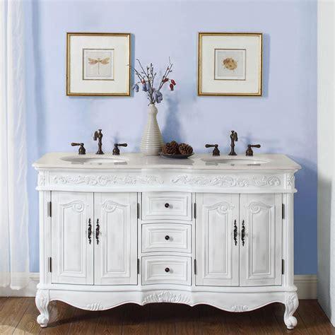 58 bathroom vanity double sink g4101 58 double sink vanity cream marfil marble top cabinet