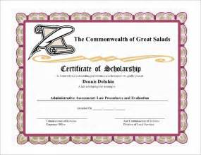 Scholarship Certificate Template 9 scholarship certificate templates free word pdf