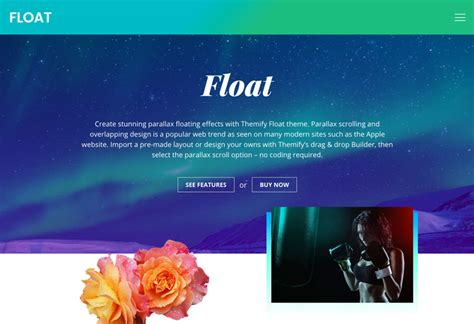 website for themes download for mobile float the parallax overlapping designed wordpress theme