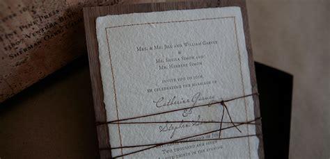 Handmade Paper Wedding Invitations - custom box envelope letterpress wedding invitation tiny